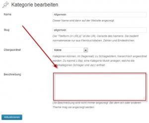 WordPress Kategoriebeschreibung anzeigen